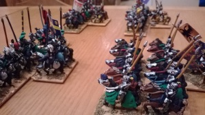 My right wing horse aiming to support my infantry attack