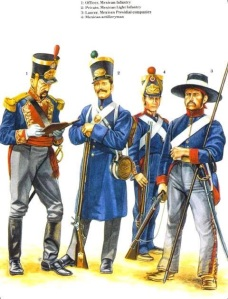 Mexican troops of the period