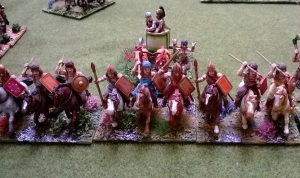 Shock cavalry eyed up their Christian Knight adversaries....