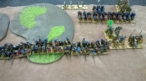 Solid spearmen, a rock to be dashed upon or a speed bump?