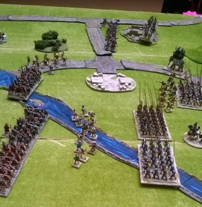 Scarab miniatures put on a small ancients competition. Very Warhammer like but we're playing a game next week!