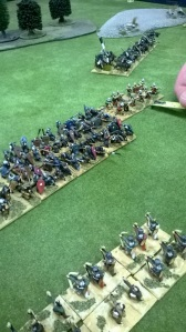 Grizzly's heaven sent crusader infantry plough forward in the centre. Their horses were eaten crossing Turkey I presume!