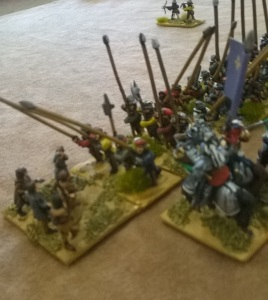 I thought I had him with a flank attack from my poor FRENCH pikes ( classed as hordes! Alors!)
