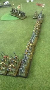 Hawkwood's longbowmen left their horses behind and recruited some 'fast' French blades.