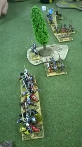 The greedy condotieri move forward to sweep away Hawkwood's vagabonds.
